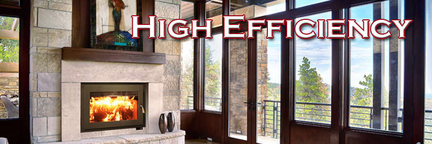 High Efficiency Wood Fireplaces